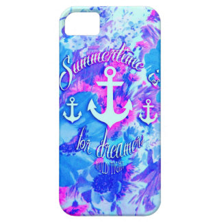 Royal Blue Nautical Poppies Art. iPhone SE/5/5s Case