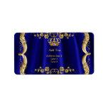 "Royal Blue Navy Wedding Gold Crown Label<br><div class=""desc"">Royal Blue Navy Wedding Gold Crown</div>"