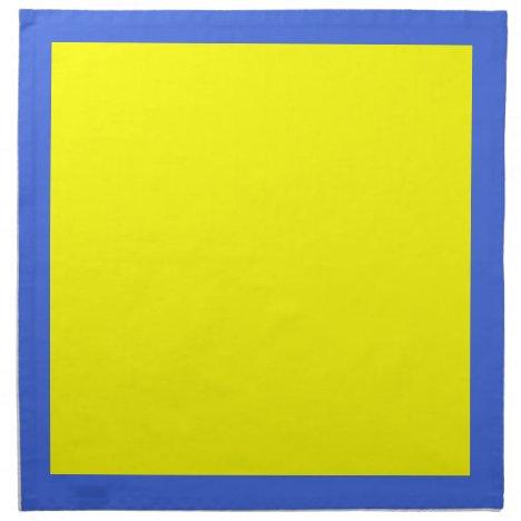 Royal Blue Nu and Yellow Napkins