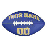 ROYAL BLUE OLD GOLD AND WHITE Custom Football