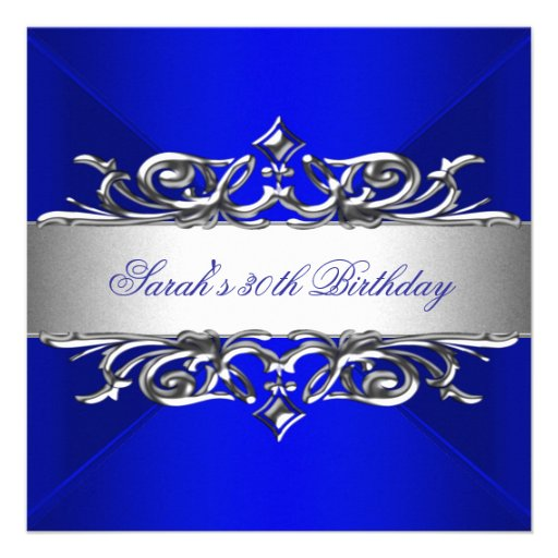 ... Party Invitations, Royal Blue Birthday Party Announcements & Invites