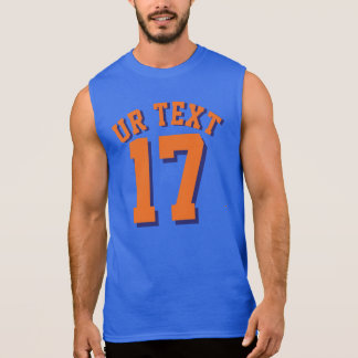 Royal Blue & Orange Adults | Sports Jersey Design Sleeveless Shirt
