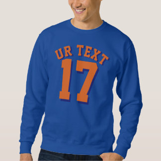 Royal Blue & Orange Adults | Sports Jersey Design Sweatshirt