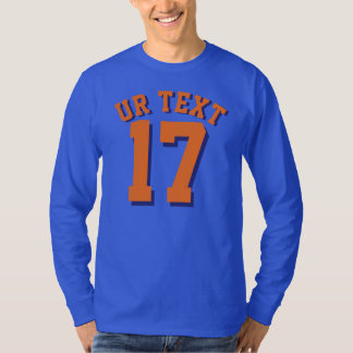 Royal Blue & Orange Adults | Sports Jersey Design T-Shirt