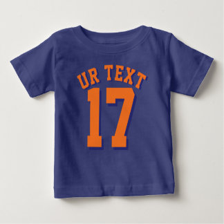 Royal Blue & Orange Baby | Sports Jersey Baby T-Shirt
