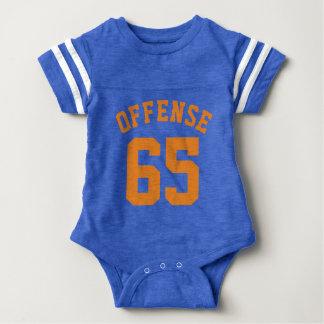 Royal Blue & Orange Baby   Sports Jersey Design T-shirts