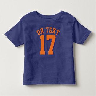 Royal Blue & Orange Toddler | Sports Jersey Design Toddler T-shirt