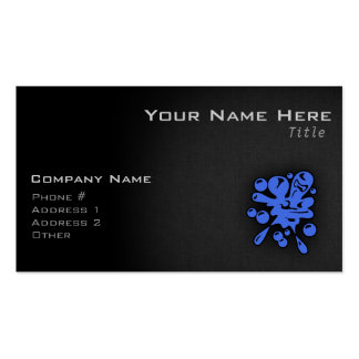 Royal Blue Paintball Double-Sided Standard Business Cards (Pack Of 100)