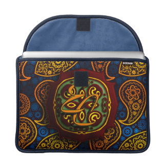 Royal Blue Paisley Sleeve For MacBook Pro