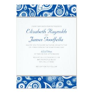 Royal Blue Paisley Wedding Invitations