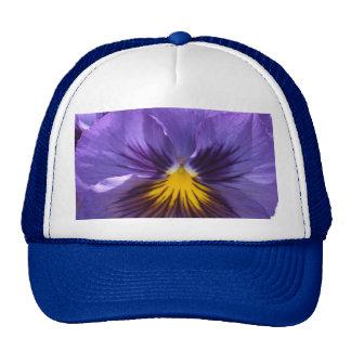 Royal Blue Pansy Trucker Hat