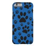 Royal Blue paw prints, pet, animal iPhone 6 case