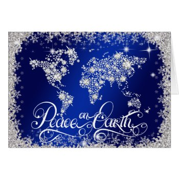 Royal Blue Peace on Earth Diamonds PERSONALIZED Card