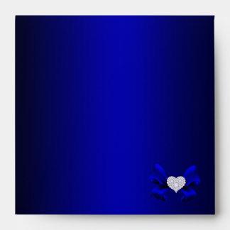 Royal Blue Peacock Envelope