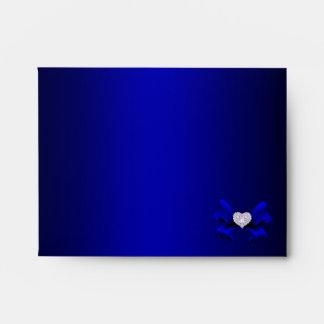Royal Blue Peacock Note Envelope