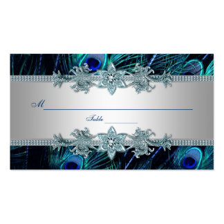 Royal Blue Peacock Seating Place Cards