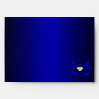 Royal Blue Peacock Wedding Envelope