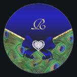 """Royal Blue Peacock Wedding Gift Seal<br><div class=""""desc""""></div>"""