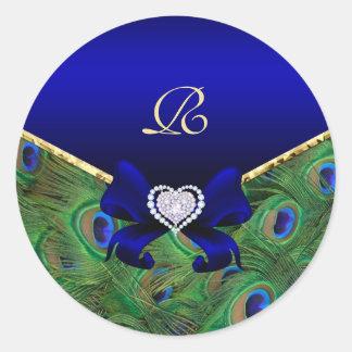 Royal Blue Peacock Wedding Gift Seal