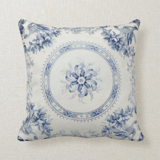 "Royal Blue Petals 16"" by 16"" Throw Pillow"