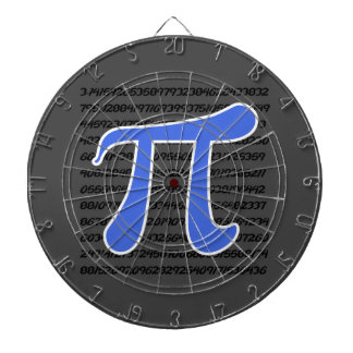 Royal Blue Pi Symbol Dartboard With Darts