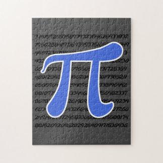 Royal Blue Pi Symbol Jigsaw Puzzle