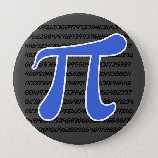 Royal Blue Pi Symbol Pinback Button