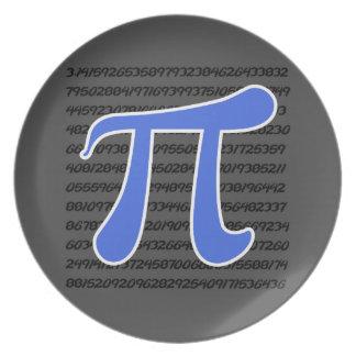 Royal Blue Pi Symbol Plates
