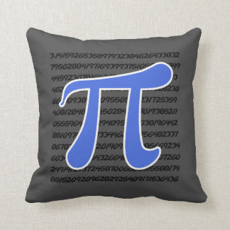 Royal Blue Pi Symbol Throw Pillow