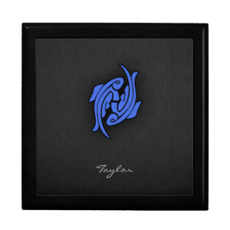 Royal Blue Pisces Jewelry Box