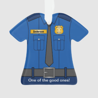 Royal Blue Police Officer Uniform Ornament