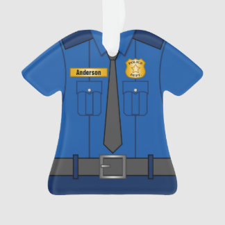 Royal Blue Police Officer Uniform Personalized Ornament
