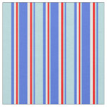 [ Thumbnail: Royal Blue, Powder Blue, Red, and White Colored Fabric ]