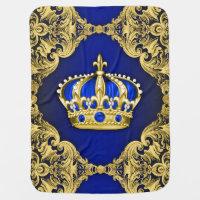 Royal Blue Prince Receiving Blanket