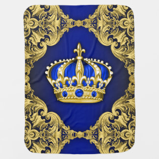 Royal Blue Prince Swaddle Blankets