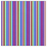 [ Thumbnail: Royal Blue, Purple, Bisque, Maroon & Light Green Fabric ]