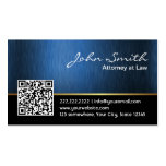 Royal Blue QR code Attorney Business Card