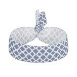 Royal Blue Quatrefoil Pattern Ribbon Hair Ties