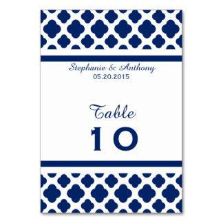 Royal Blue Quatrefoil  Wedding Card
