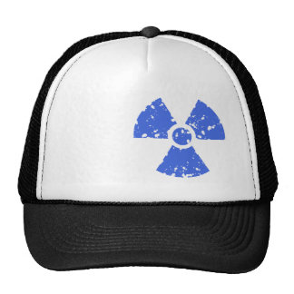 Royal Blue Radioactive Symbol Trucker Hat