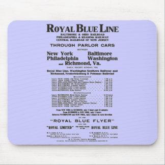 Royal Blue Railroad Line 1908 Mouse Pad