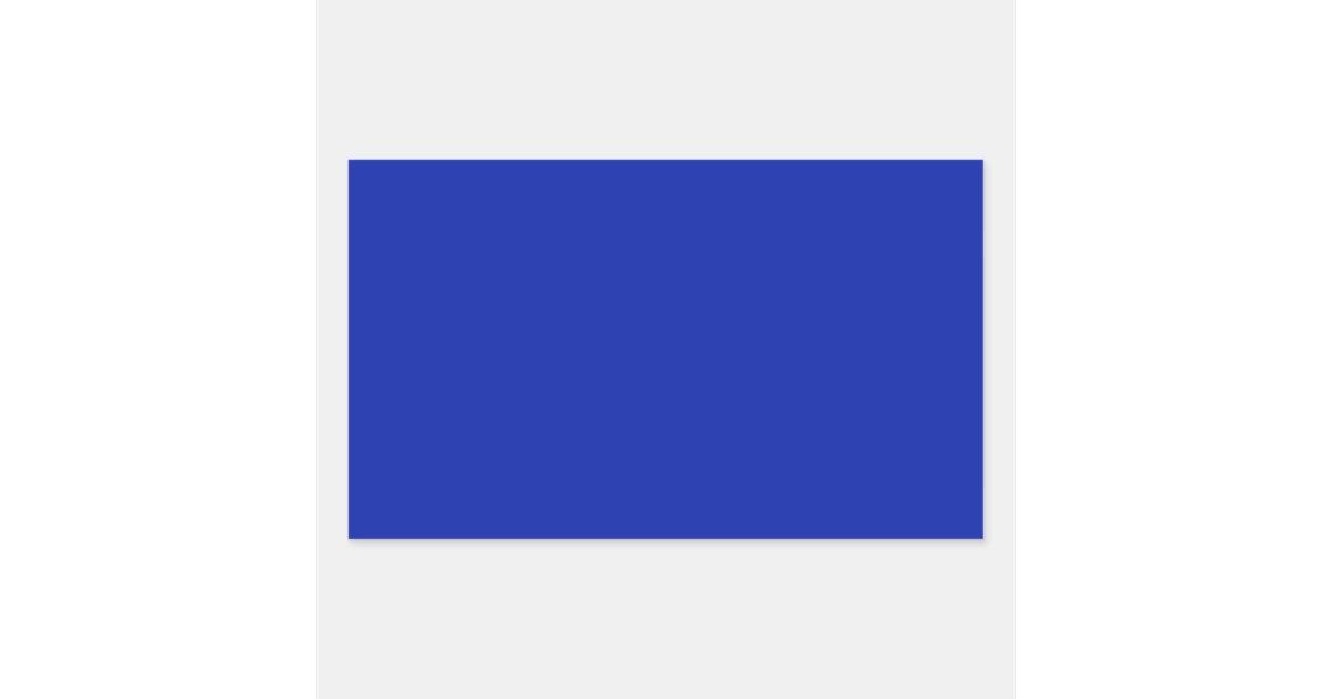 Royal Blue Rectangle Sticker | Zazzle