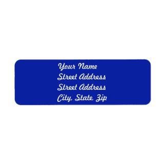 Royal Blue   Return Address Sticker Label