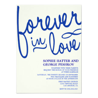 Royal Blue Romantic Wedding Invitations