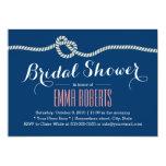 "Royal Blue Rope Knot Bridal Shower Invitations 5"" X 7"" Invitation Card"