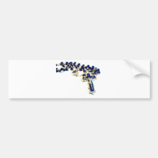 Royal Blue Rosary Bumper Sticker