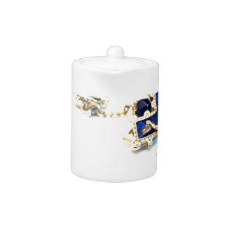 Royal Blue Rosary Teapot