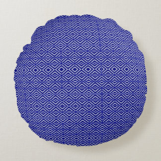 Royal Blue Round Pillow