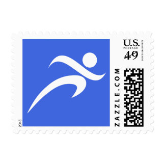 Royal Blue Running Postage Stamps