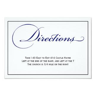 Royal Blue Script Wedding Directions Details Card